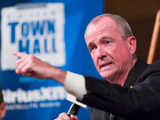 Democratic gubernatorial candidate Phil Murphy conducts