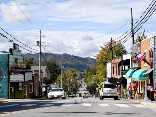 Downtown Burnsville is located in Yancey County which