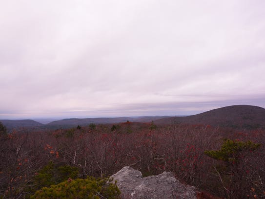 The view from Mount Race.