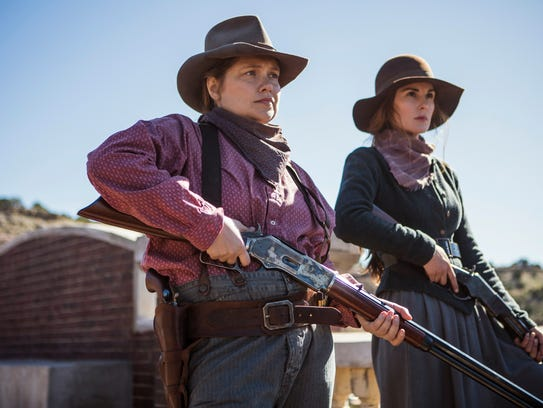 Mary Agnes McNue (Merritt Wever), left, and Alice Fletcher