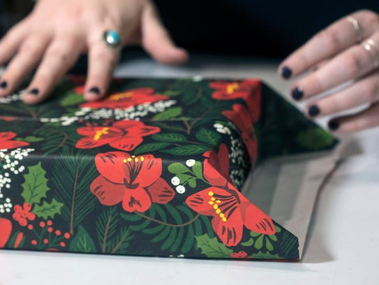 The folded ends on a wrapped gift should be even to