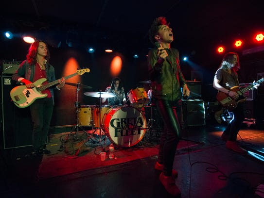 Rising Michigan rock 'n' roll group Greta Van Fleet