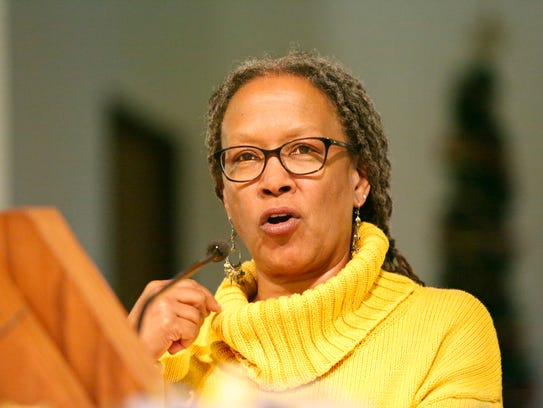 Lecia Brooks of the Southern Poverty Law Center speaks