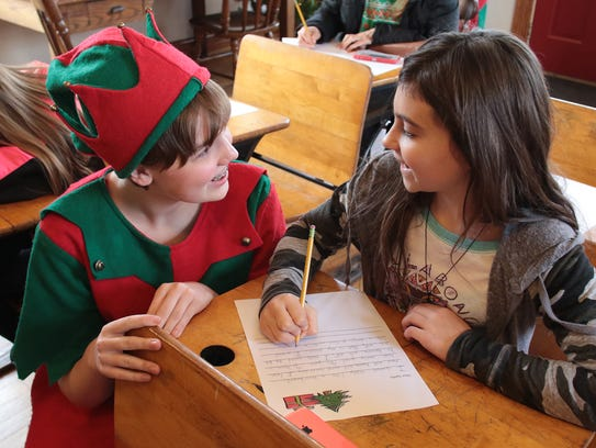 Children can write letters to Santa at the Santa Claus