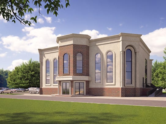 Rendering of the Royal Grove Shul, approved to be built