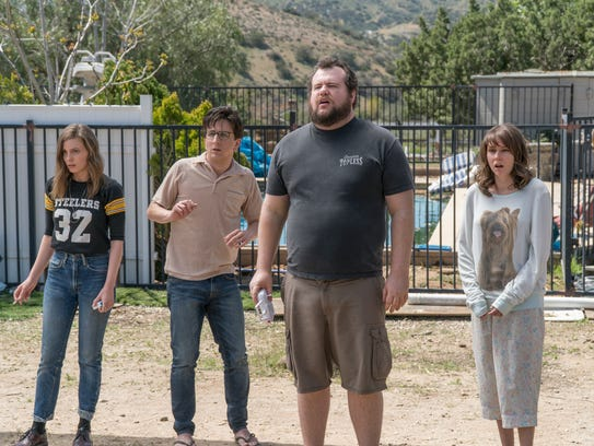 Mickey (Gillian Jacobs, left) and Gus (Paul Rust) go on a trip from hell with friends Bertie (Claudia O'Doherty) and Randy (Mike Mitchell) in Season 3.