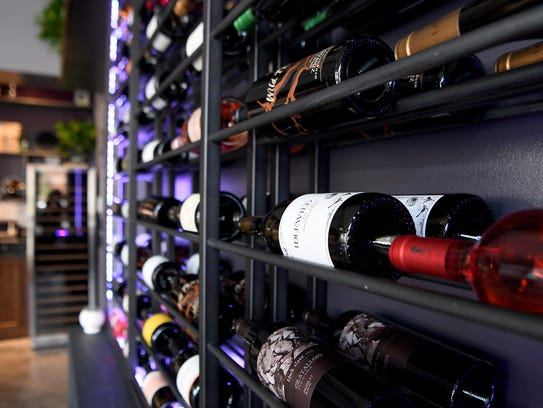 The selection of wine at Rustic Grape Wine Bar focuses