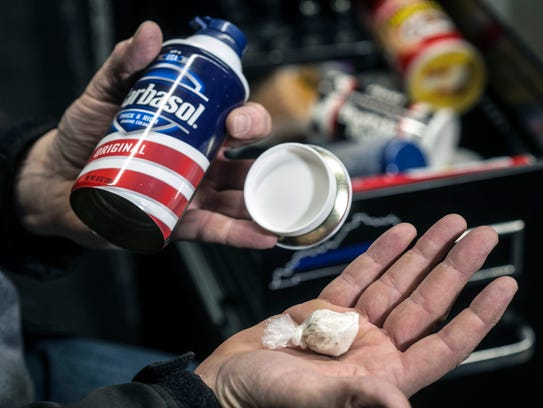 Cans of shaving cream, sold as safes with removable