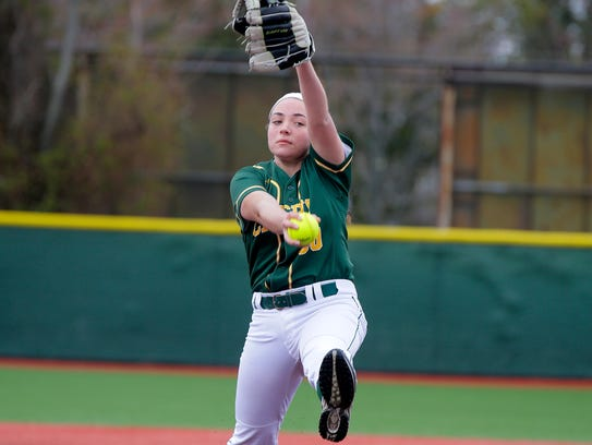 RBC's Alexandra DiBenedetto pitches during the 1st