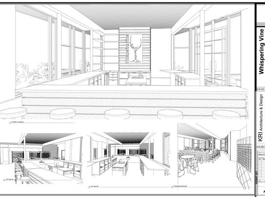 A rendering of an interior proposal for Whispering
