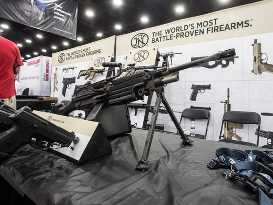 Firearms and firearm accessories were on full display