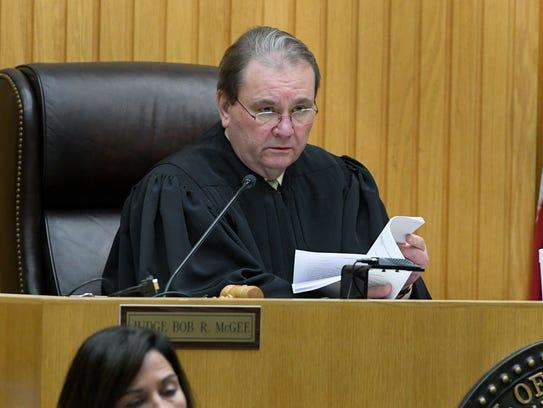 Knox County Criminal Court Judge Bob McGee listens