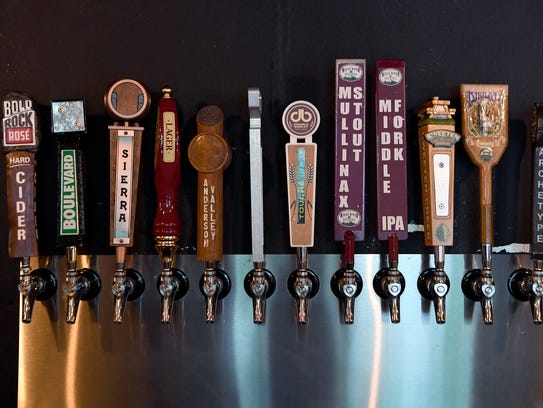 Beer on tap at The Barrelhouse features some local