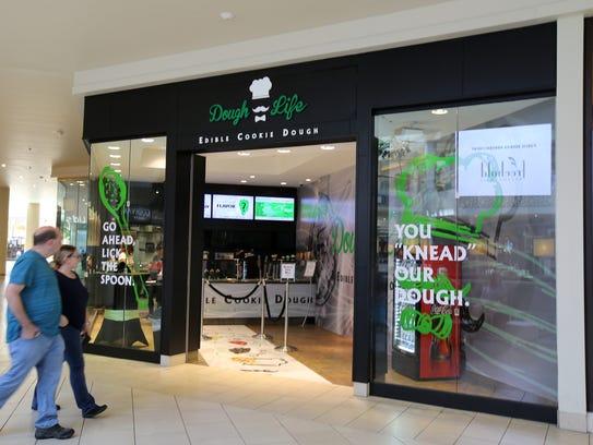 Exterior of Dough Life, an edible cookie dough store,