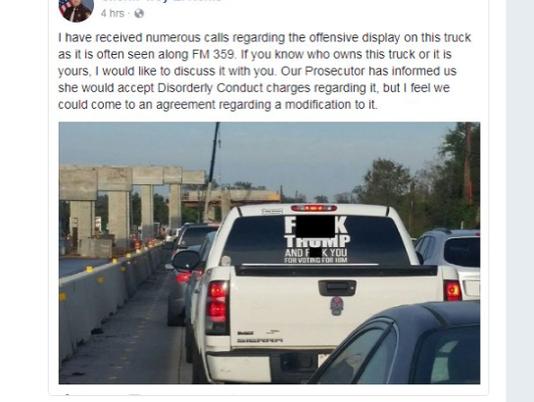 Anti Trump car sticker.png
