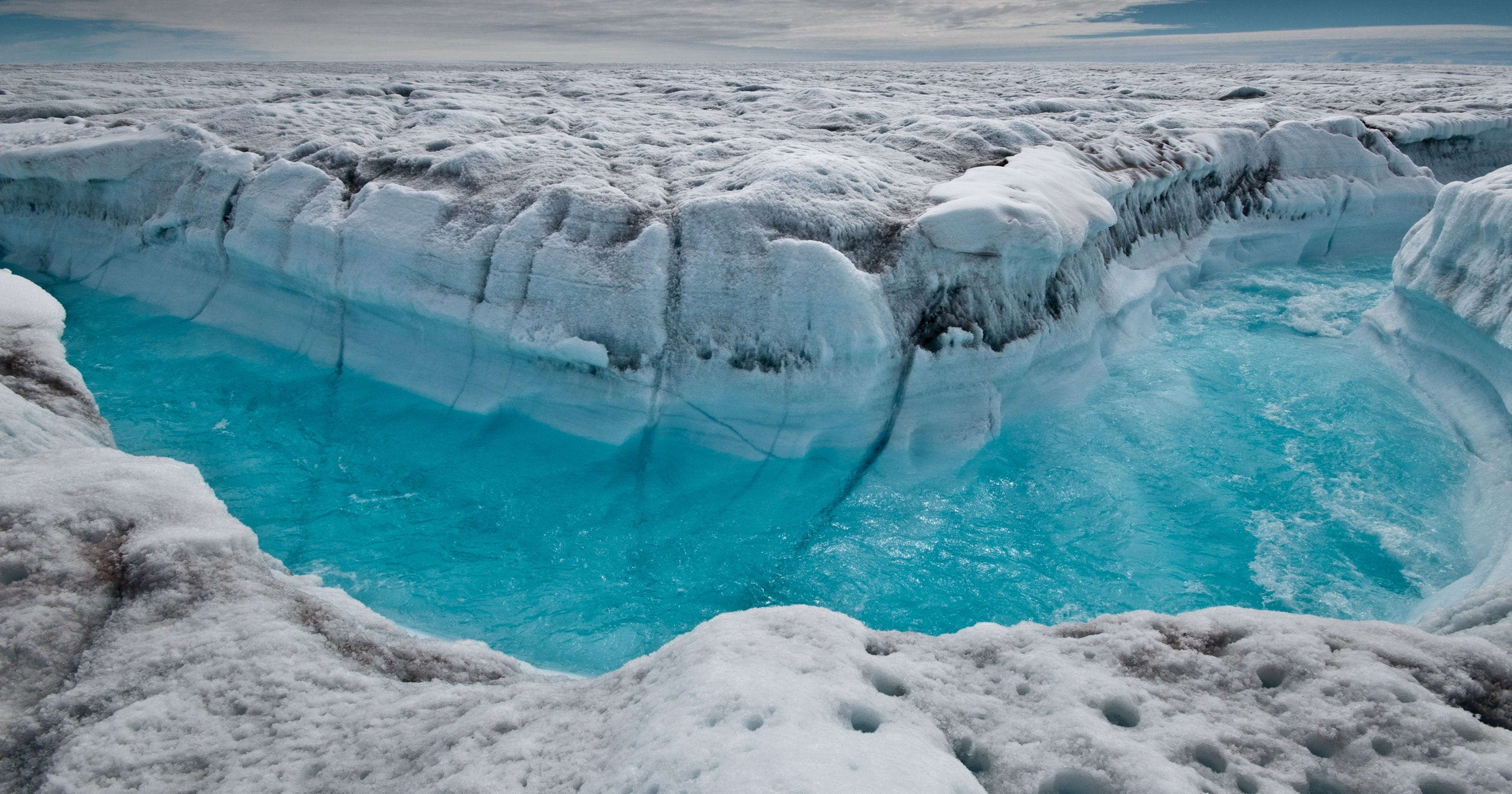 ice sheets melting at poles faster than before