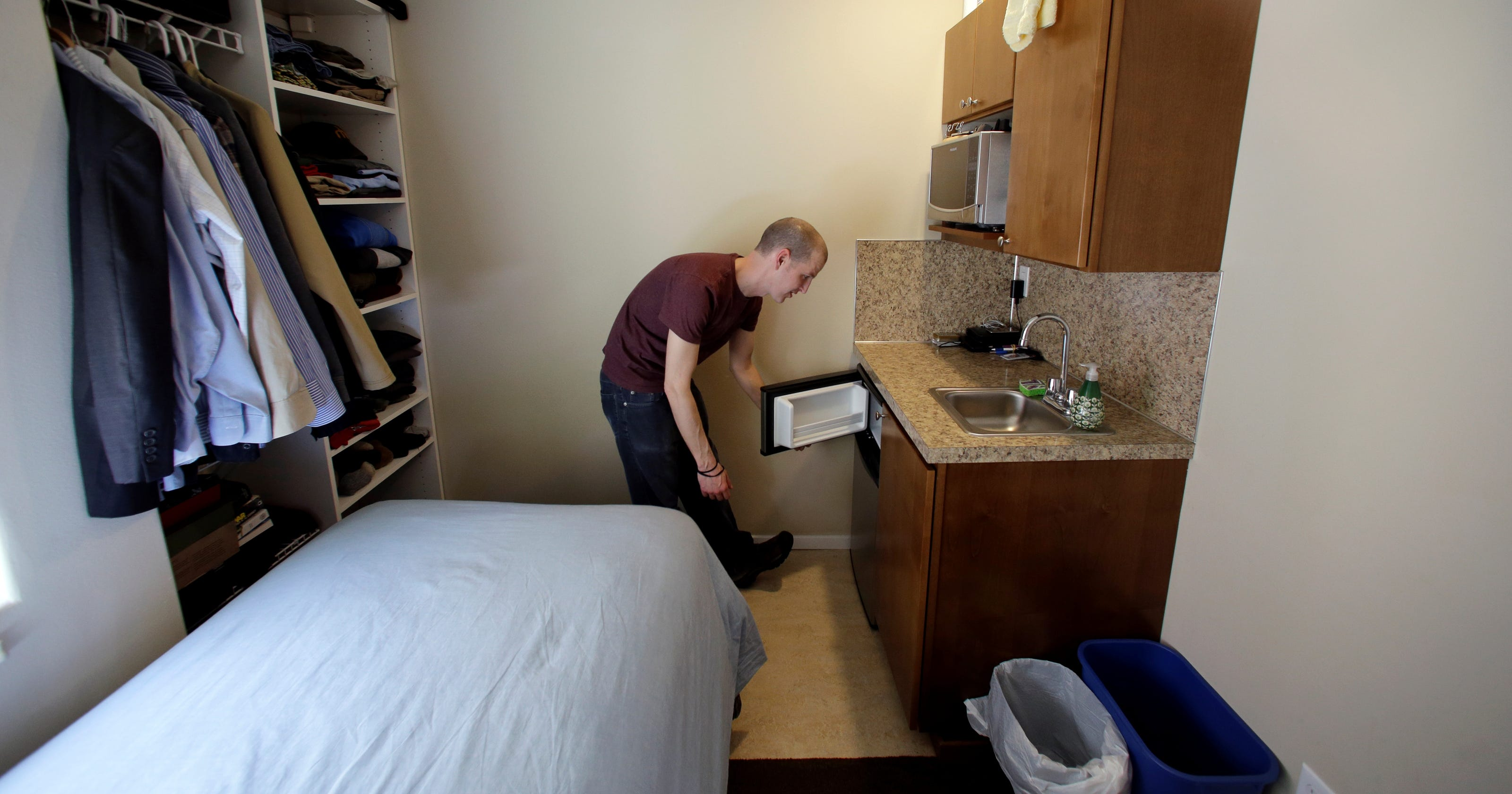 Rent Apartment Usa Ever Lived In A Place This Tiny Micro Apartments Face