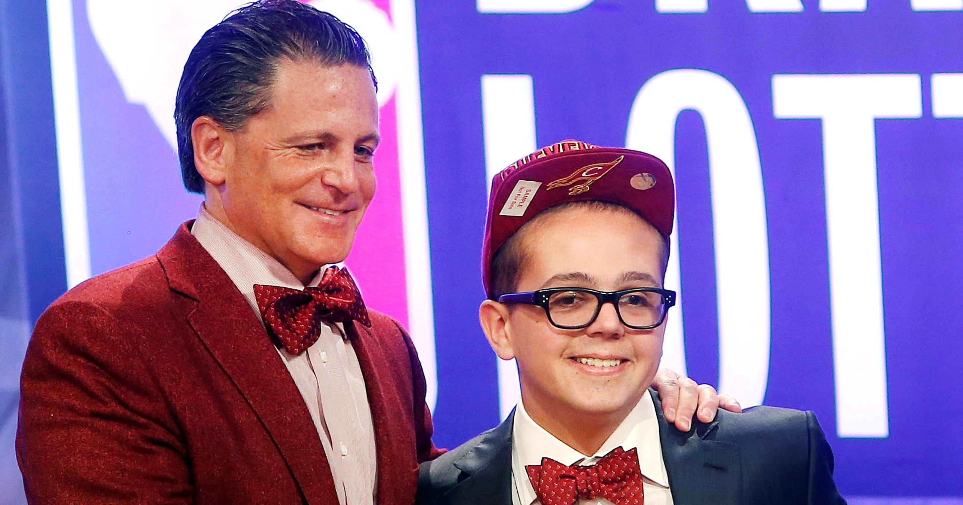 Nick and Dan Gilbert at 2011 Draft Lottery