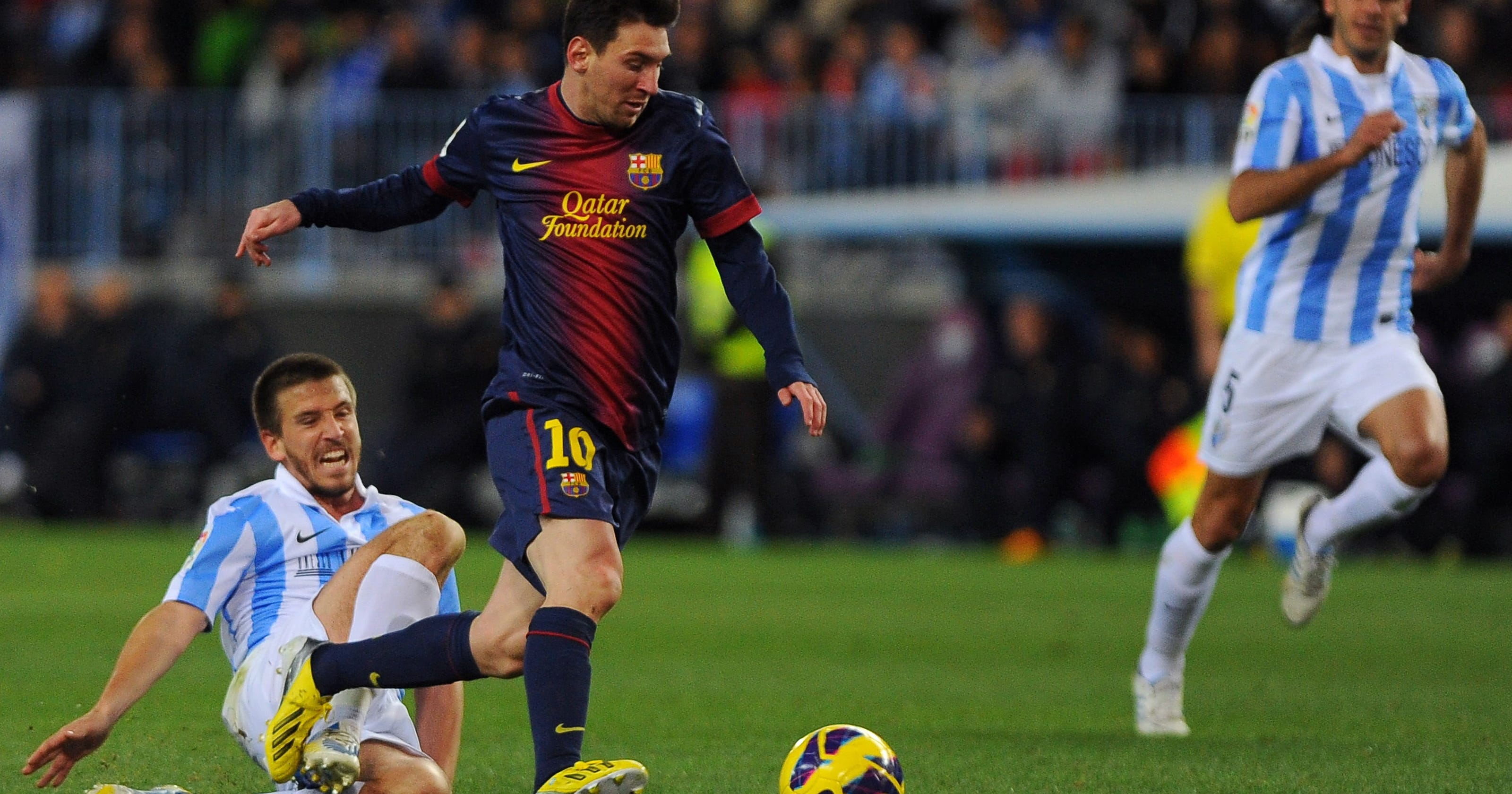 Lionel messi does it all as barcelona rolls at malaga - Firefly barcelona ...
