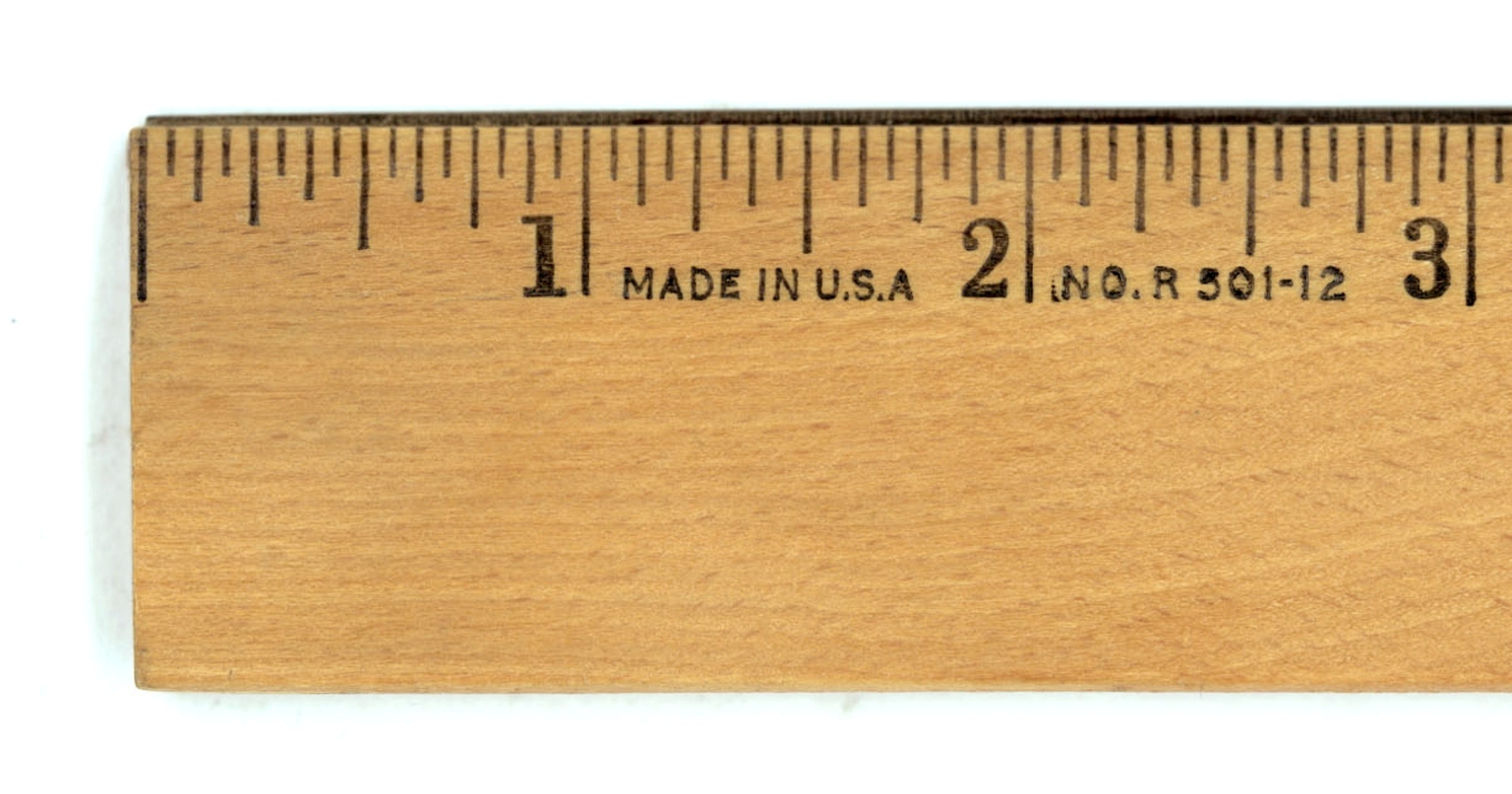 Actual size of 1 inch