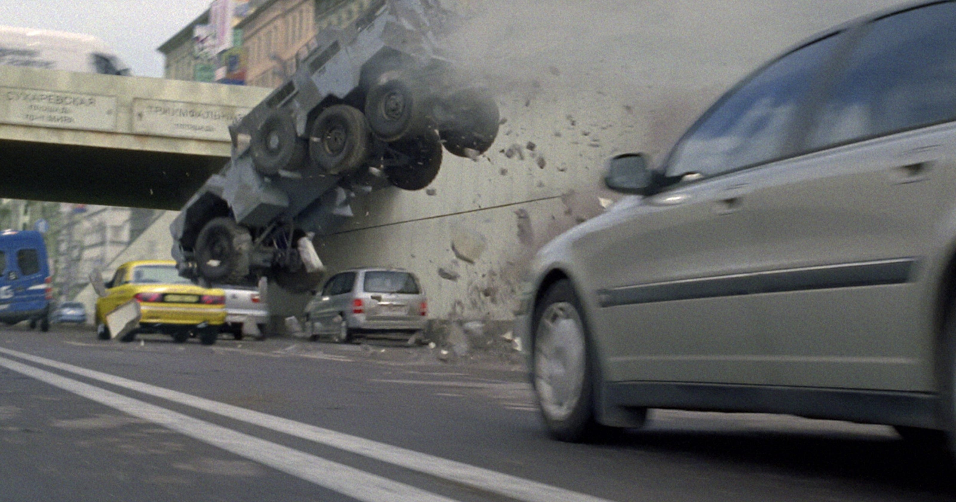An Armored MRAP Crushes All In Die Harder Movie - 1 million mercedes coolest armoured vehicle ever