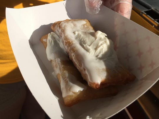 Cinnamon kringle bites are topped with sweet icing.