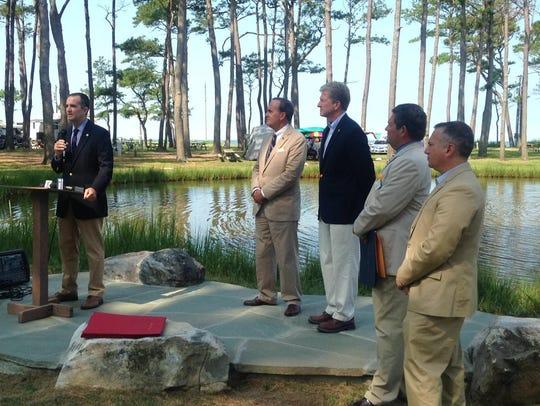 Lt. Gov. Ralph Northam speaks on Wednesday, July 29,