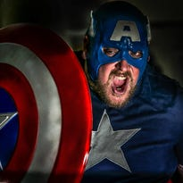 John Estep of Boothwyn has been a Captain America fan since the age of five. Estep also has been collecting Captain America memorabilia throughout the years from figurines to comics and even drawing some on his own.