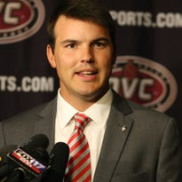 First year coach Will Healy attended his first Ohio  Valley Conference football media day on Monday, July 18.