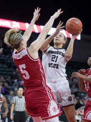 Aubrey Buckley puts up a shot against Bradley's Chelsea
