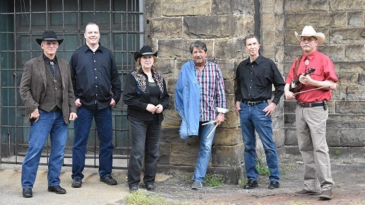 Classic Country Express band members are: Mark Derus, guitar; Bill Howie, bass guitar and vocals; Bob Krob, keyboard, vocals; Marty Mayson, drums, vocals; Joe Martin, fiddle; and Susan Stuck, vocals. They will be performing at the July 25 re-opening of the Lions Lincoln Theatre in Massillon.