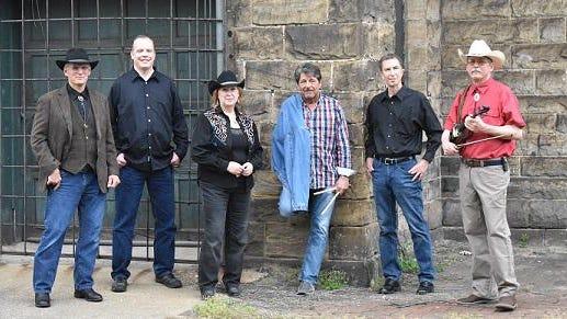 (LtoR) Mark Derus, guitar; Bill Howie, bass guitar and vocals; Susan Stuck, vocals; Marty Mayson, drums, vocals; Bob Krob, keyboard, vocals; Joe Martin, fiddle.