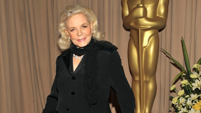 This March 7, 2010 file photo shows actress Lauren Bacall backstage during the 82nd Academy Awards in Los Angeles. Bacall, the sultry-voiced actress and Humphrey Bogart's partner off and on the screen, died Tuesday in New York. She was 89.