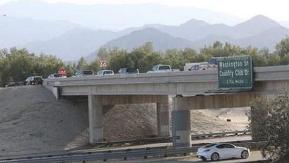 The northbound ramp of Indio Boulevard will be closed Friday for several hours.
