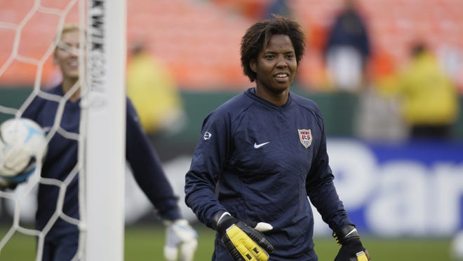 Former U.S. soccer goalie Briana Scurry testified before Congress on Thursday about concussions and neck injuries cutting short her career.