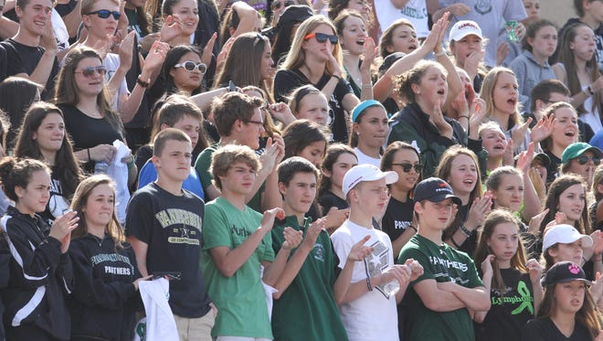 High school sports crowds, like these Pleasantville lacrosse fans pictured during a game in 2015, are getting close to normal after new New York state guidance will allow up to 500 spectators at outdoor sporting events.