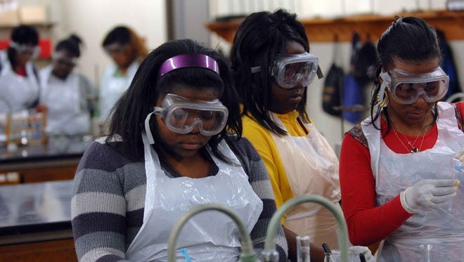 Students at LeMoyne-Owen College in Memphis.