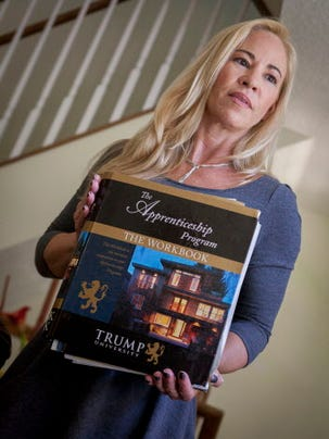 Sherri Simpson says she was defrauded by the Trump