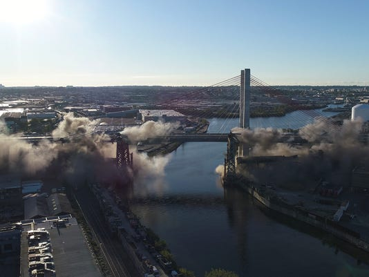Governor Cuomo implodes former Kosciuszko Bridge
