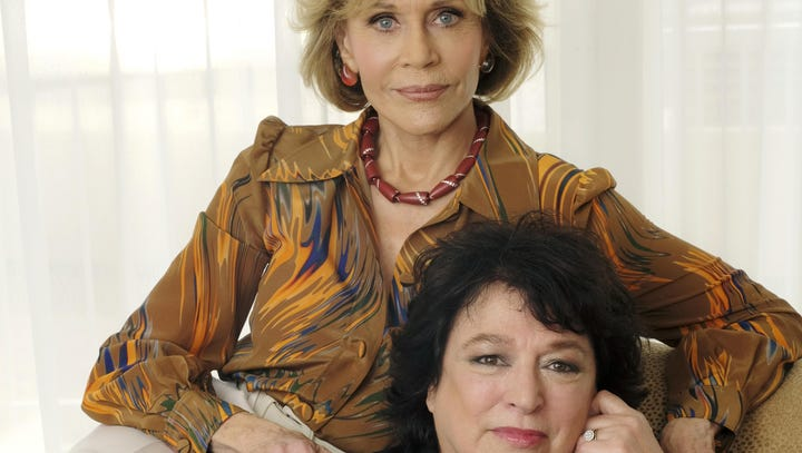 Actress Jane Fonda, left, is the focus of and Susan