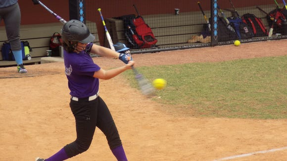 Kyleigh Roland batted .650 for the Reynolds Middle