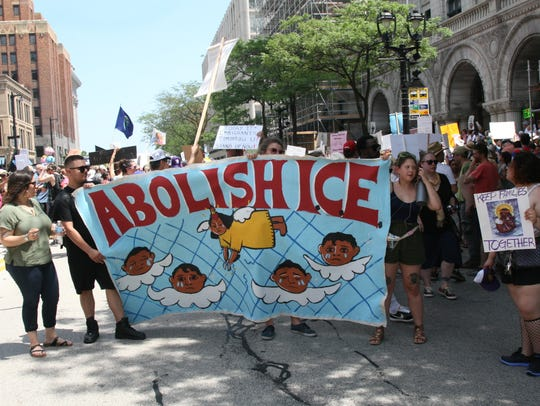 Demonstrators in Milwaukee demanded the abolishment