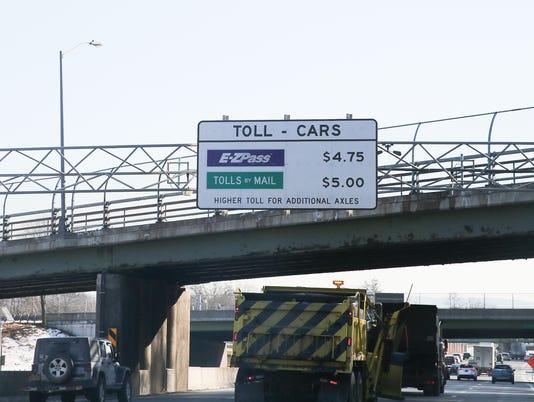 Cashless toll sign