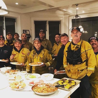 Grapevine: Rob Lowe cooks for California firefighters