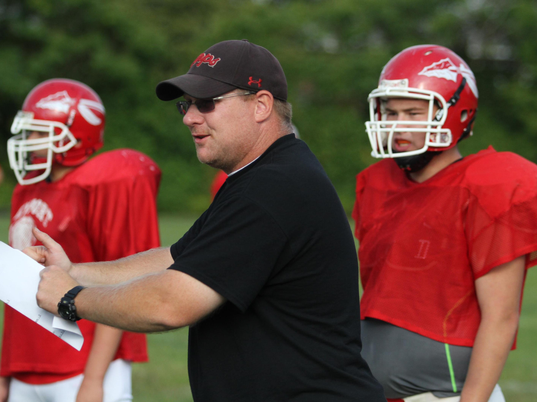 Keyport head coach John Pazkowski watches a 2014 practice.