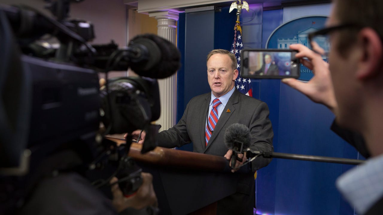 White House press secretary Sean Spicer took a combative tone as he defended the crowd sizes at the Trump inauguration. The statement ended abruptly and left many reporters shouting questions that would go unanswered.