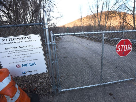 A gate outside the Ringwood Superfund site.
