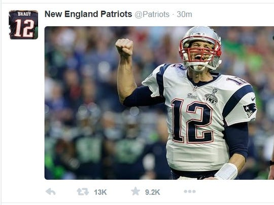 Easy to see who won this one, right Tom Brady?