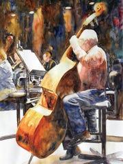 "Sharon Warren, ""String Master,"" 2018, Watercolor on"