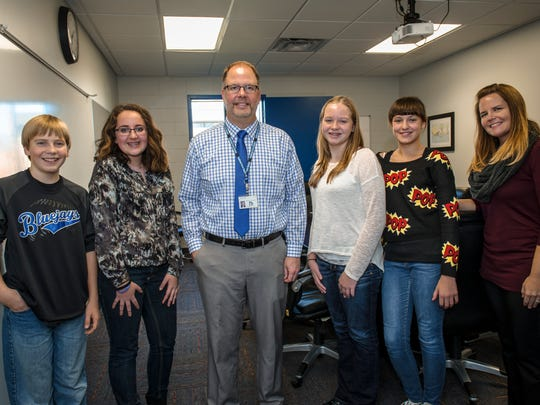 B-F Middle School Principal Chad Carlson was named the administrator of the year at the Iowa Student Leadership Council. He was nominated by his school''s student council.